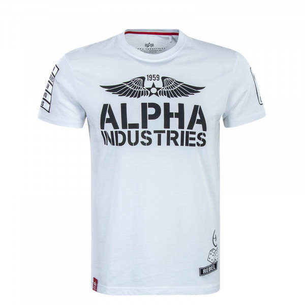 T-Shirt Rebel White Black