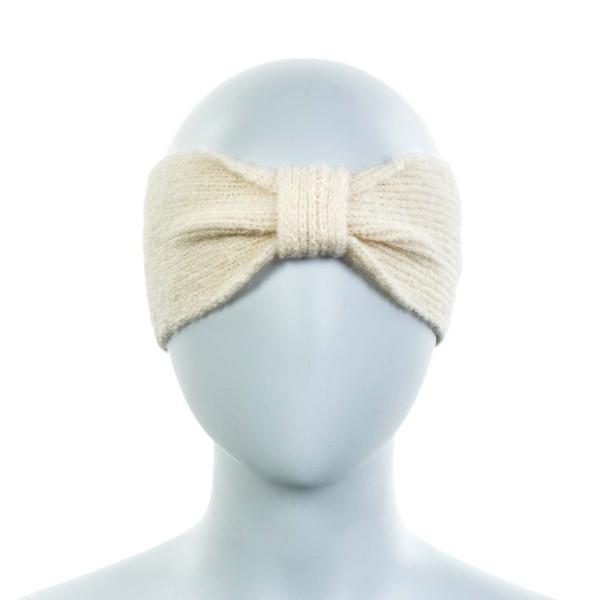 Damen Stirnband Knit Tessi Ecru