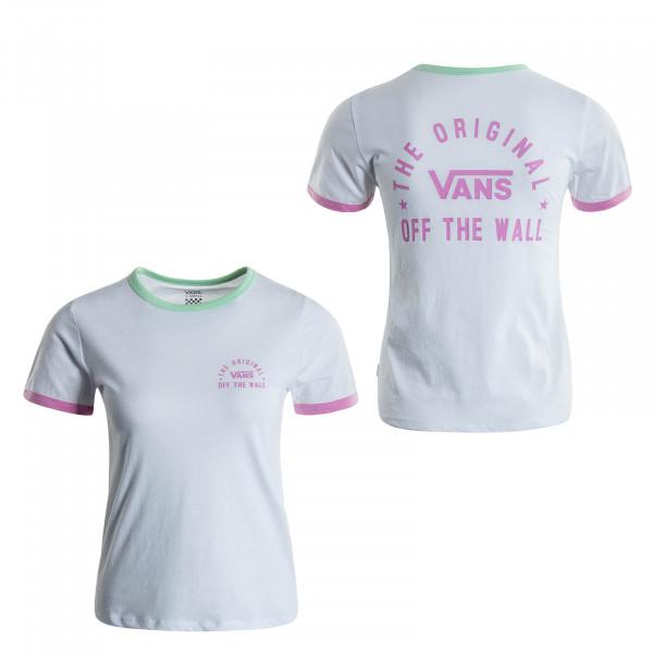 Damen T-Shirt Rally Bell White Green
