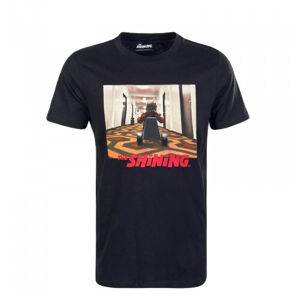 Herren T-Shirt Shinning Child Black