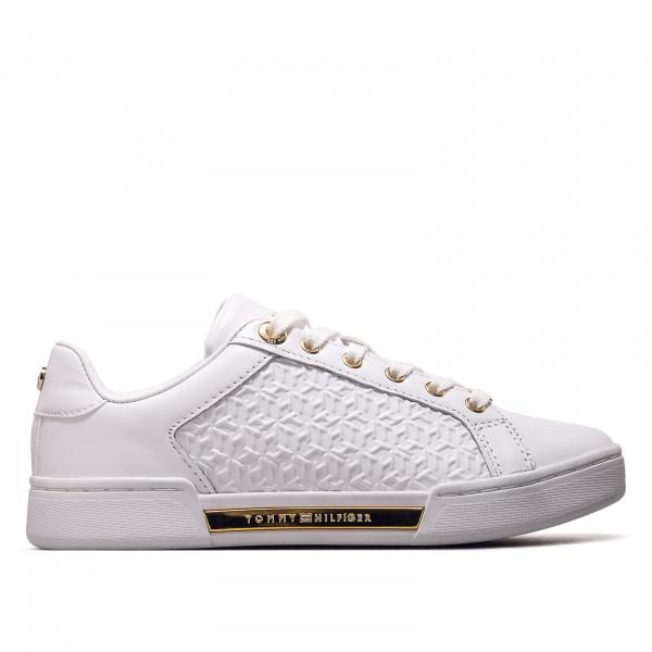 Damen Sneaker - Monogram - White / Gold