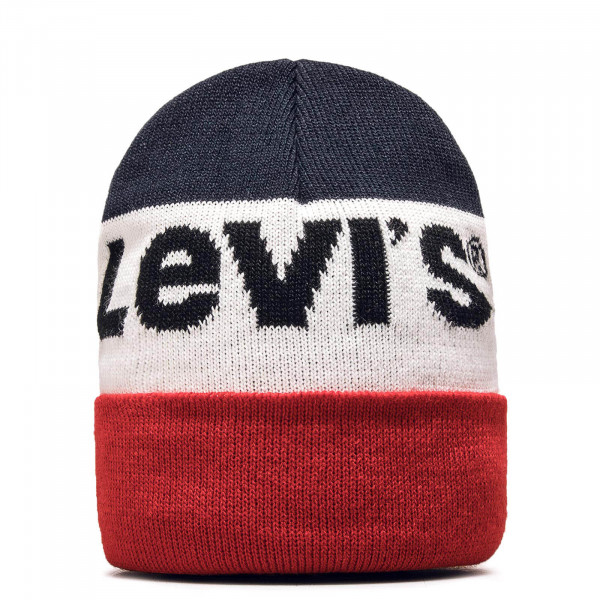 Beanie Sportswear Logo Navy White Red