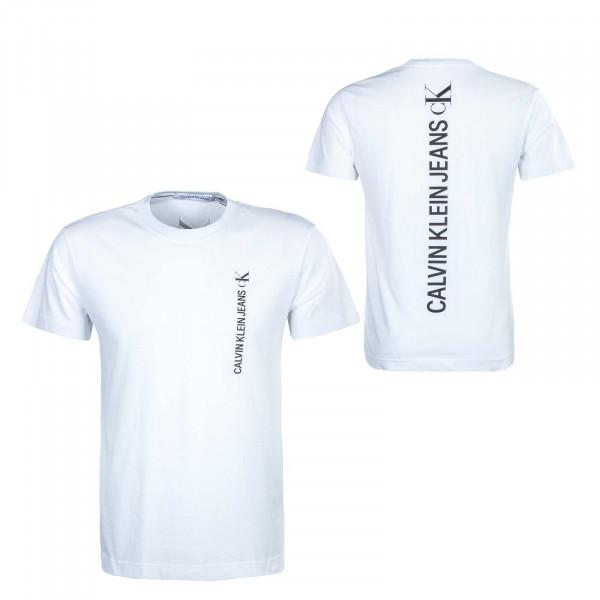 Herren T-Shirt - Vertical Back 8303 - White