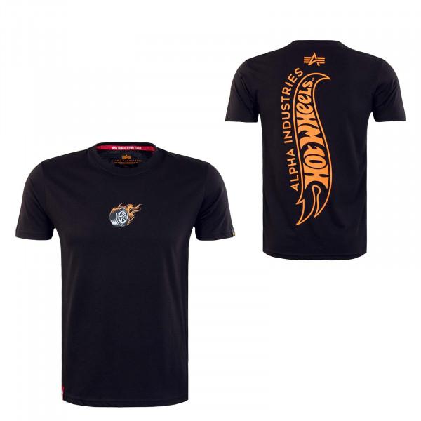 Herren T-Shirt - Hot Wheels Back Print - Black