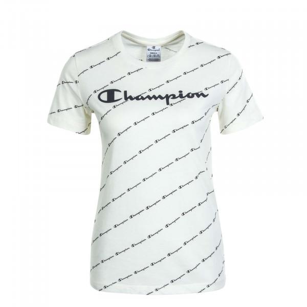 Damen T-Shirt 113224 Off White Allover