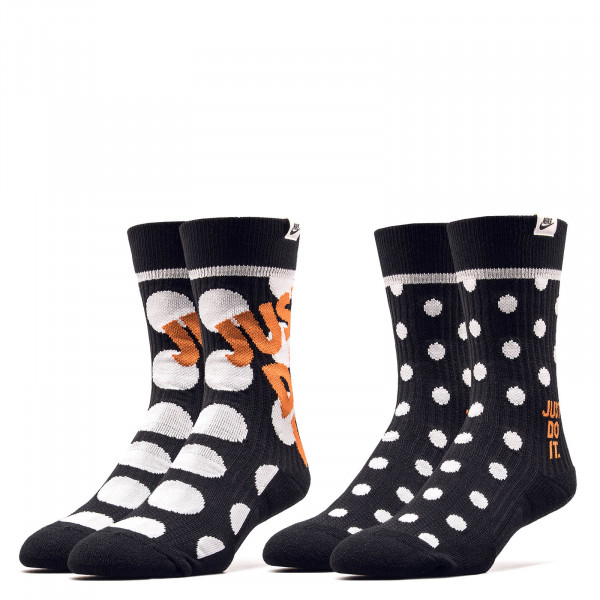 Socken Crew 2 Pack Dots Black White