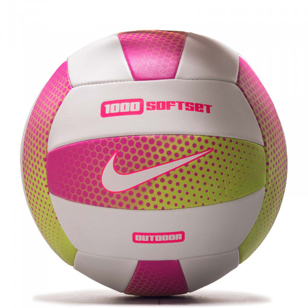 Volleyball 1000Softset Outdoor Pink Wht