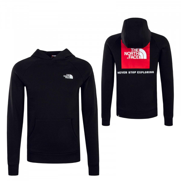 Hoody Raglan Red Box Black