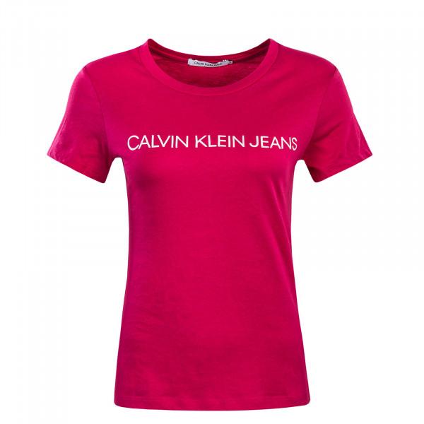 Kurzarmshirt Institutional Logo Cabaret Pink