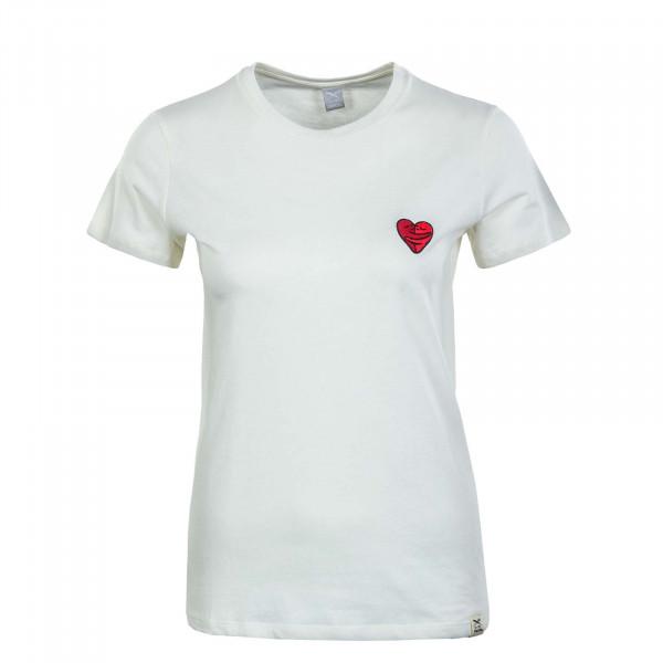Damen T-Shirt - Cuddle Girl - Off White