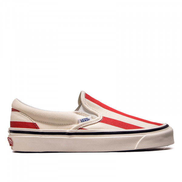 Damen Sneaker Classic Slip on 9 White Red
