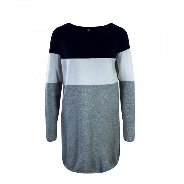 Only Dress Knit Lily Navy White Grey