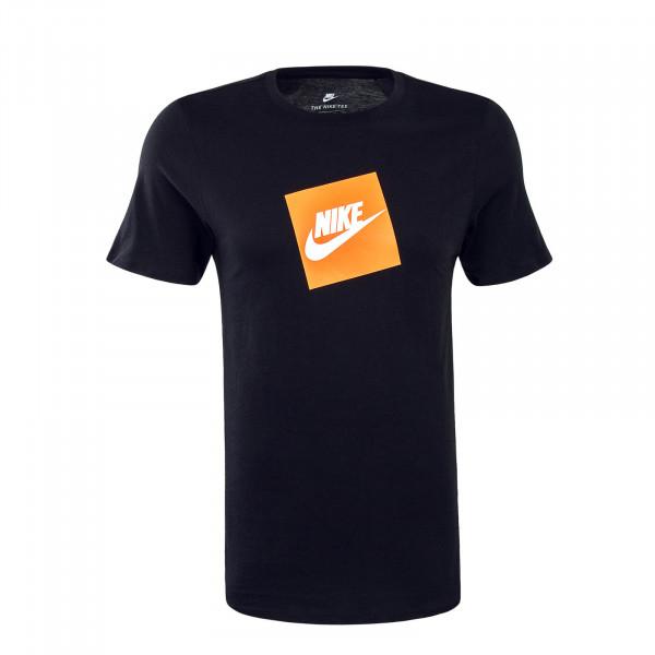 Herren T-Shirt  NSW SS Futura Black Orange White