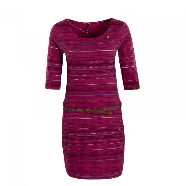 Damen Dress Tanya Print Rose Bordeaux