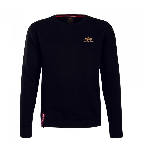 Alpha Sweat Basic Sweater Small BlkGold