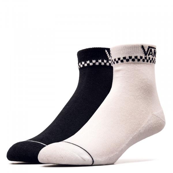 Unisex Socken - Peek-A-Check Socks 2er-Pack - Black / White
