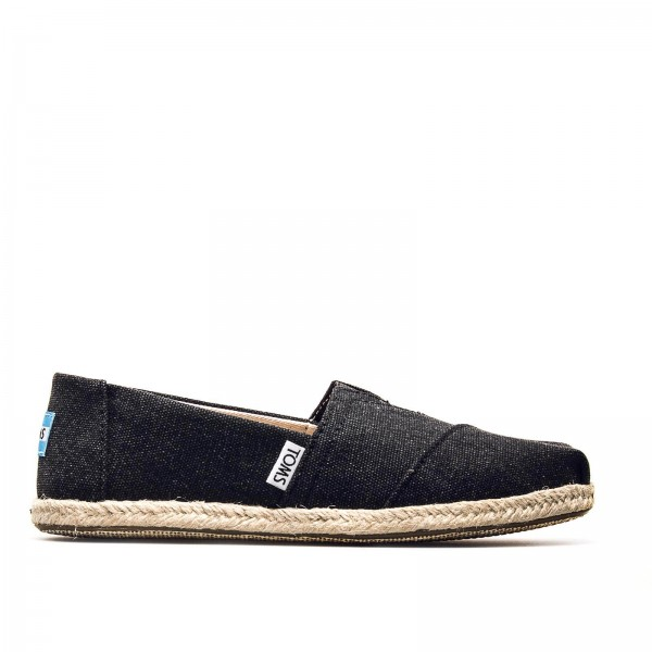 Toms Wmn Classic Canvas Rope BlackWashed