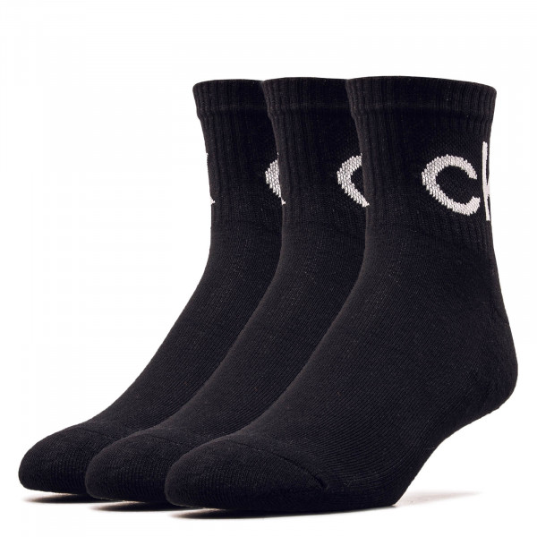 Socken 3er-Pack Quarter Black