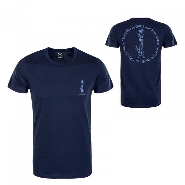 Herren T-Shirt - Rosebong - Navy / Blue