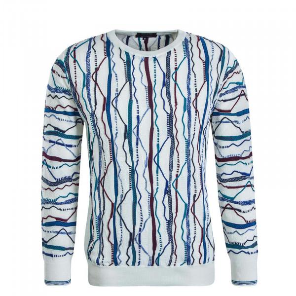 Herren Knit C10003 Off White Blue