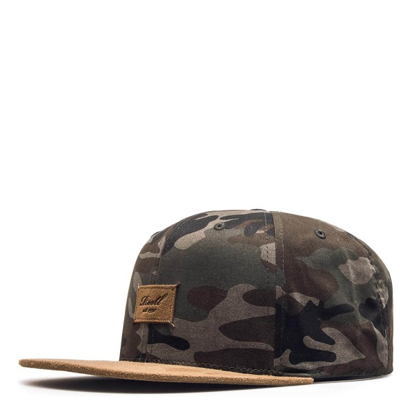 Reell Cap Suede 6Panel Camouflage Olive