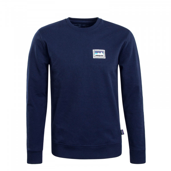 Herren Sweatshirt Shop Sticker Crew Navy