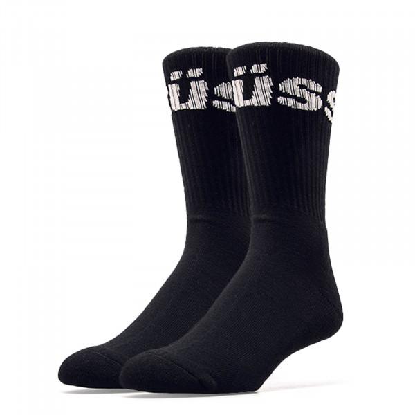 Stüssy Socks Jacquard Logo Black