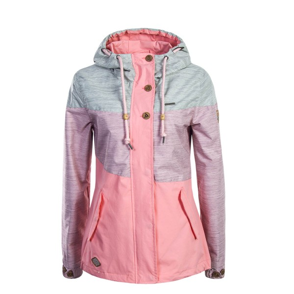 Ragwear Wmn Jkt Fancy Pink Grey