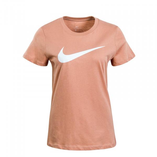Damen T-Shirt NSW Swoosh Roségold White