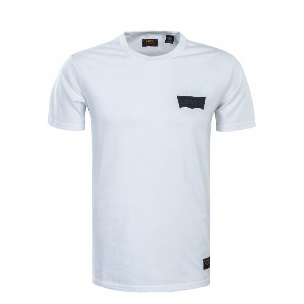 Herren T-Shirt Skate Graphic LSC Banner White