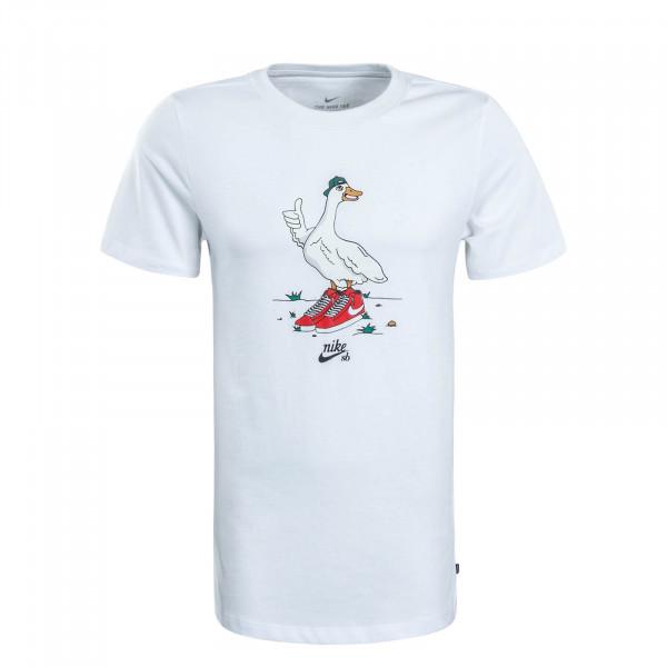 Herren T-Shirt Goose White