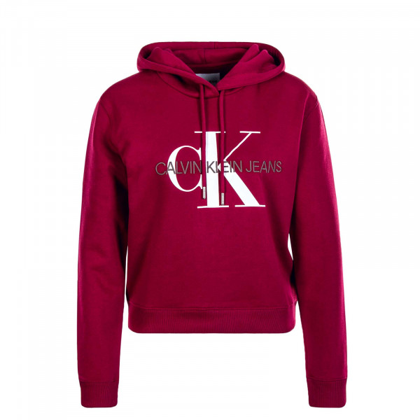 Damen Hoody Monogram Boxy Bordeaux