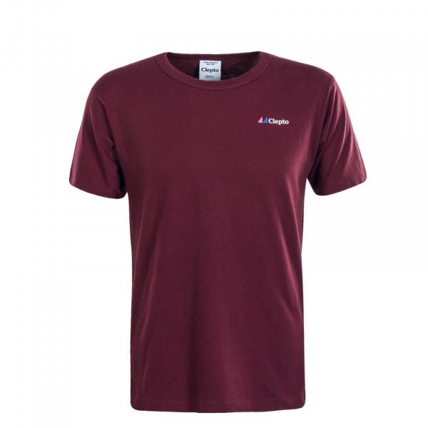 Herren T-Shirt Signal Bordeaux