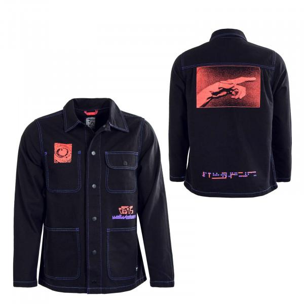 Herren Hemd - Drill Chore Coat OTW Ruben Martinho - Black / Red