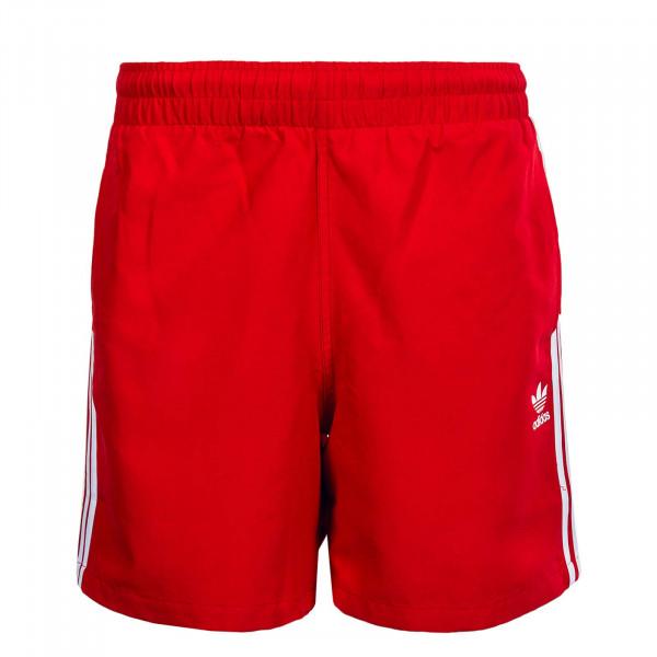 Herren Swimshort 3 Stripe GD 9965 Scarlet