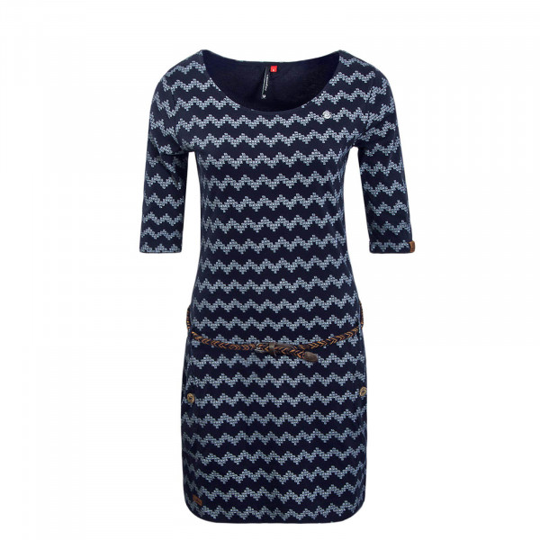Dress Tanya Zig Zag Navy