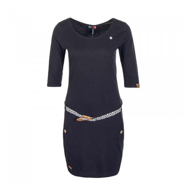 Damen Kleid Tanya Solid Black