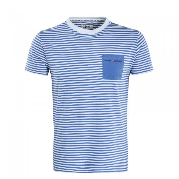 Herren T-Shirt Pocket 7122 Blue White