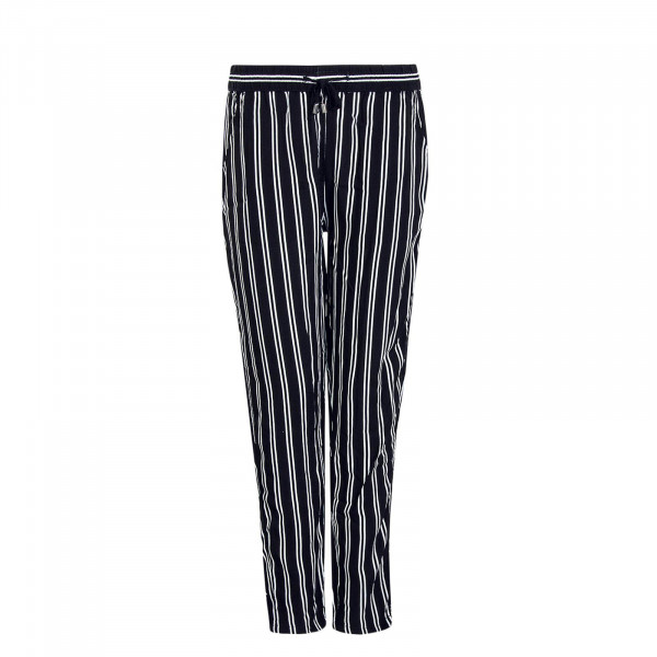 Damen Pant 61869 Stripes Black