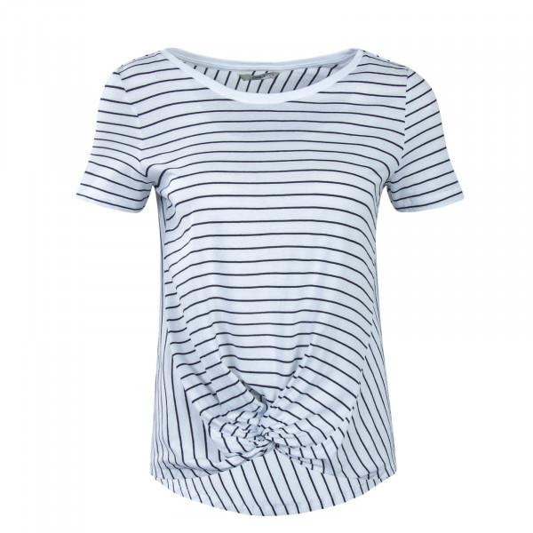 Damen T-Shirt Jamie Knot Stripe White Blue