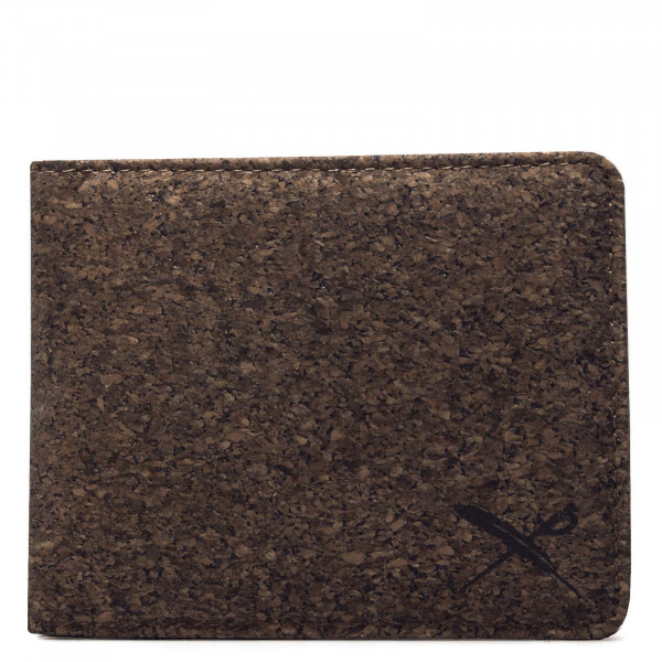Portemonnaie Cork Flag Dark Brown