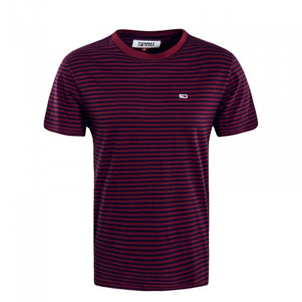 Herren T-Shirt 5515 Classic Stripe Bordeaux Navy