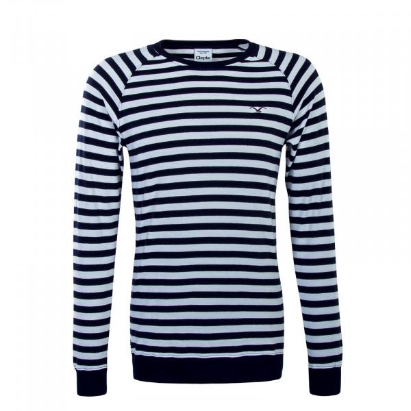 Sweatshirt Classic Stripe White Navy