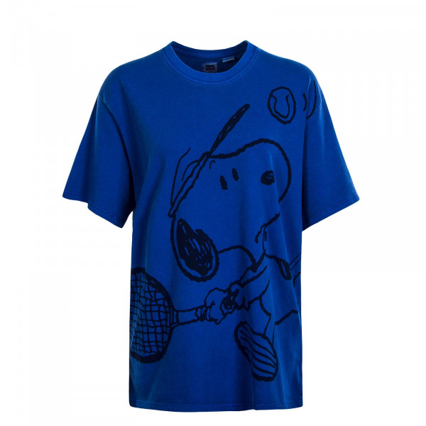 Damen T-Shirt Graphic Relaxed Snoopy Blue