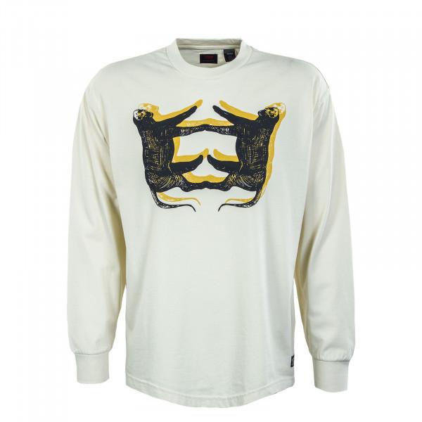 Herren Longsleeve - Graphic Box Leopard - beige