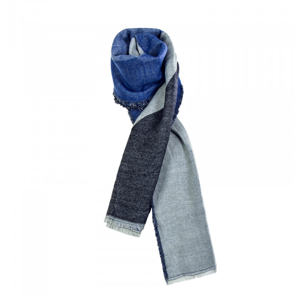 Damen Schal Tilla Weaved Navy Grey