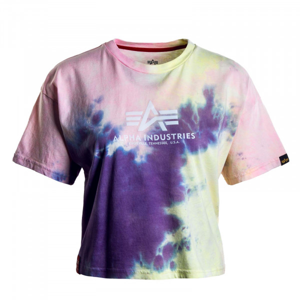 Damen T-Shirt - Basic Batik COS - Purple / Batic