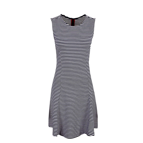 Tommy Wmn Dress 1982 Navy White