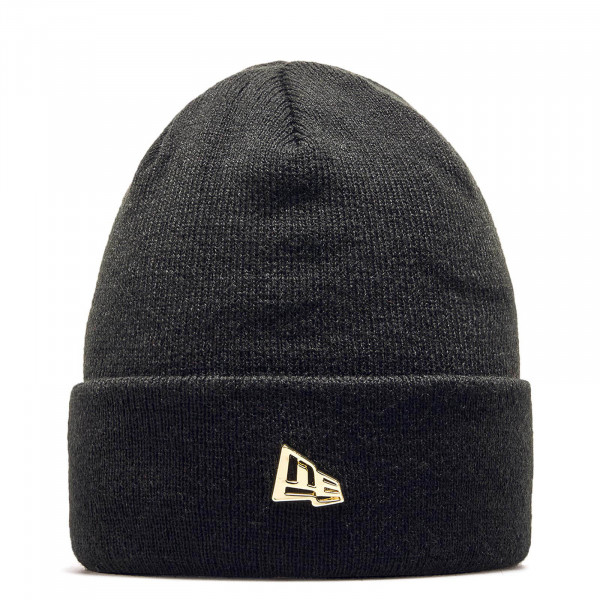 New Era Beanie Metal Flag Black Gold