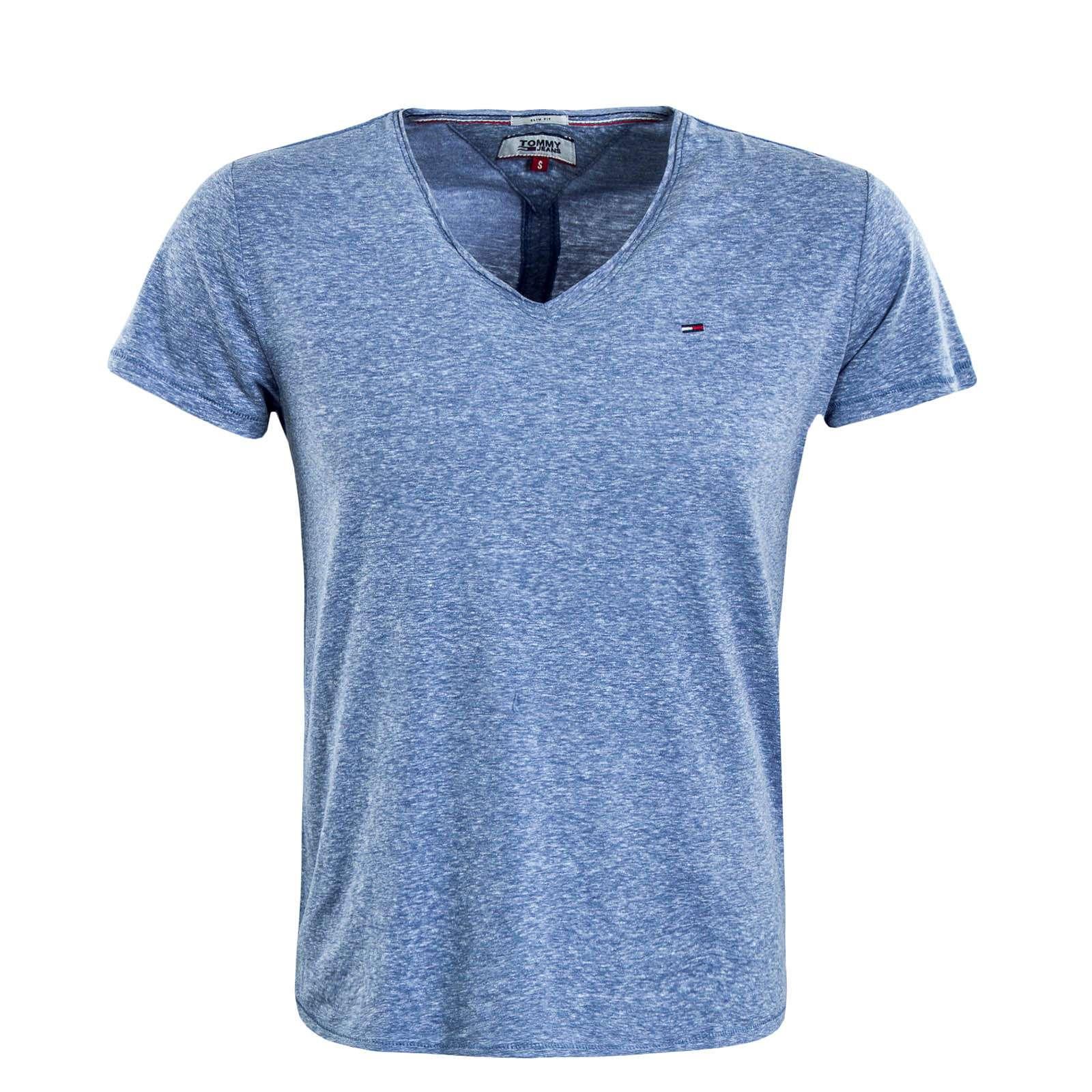 Tommy Hilfiger T Shirt Herren oliv melange im Online Shop